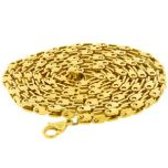 Mens Gold Fancy Box Chain 30 Inches 4mm Thick #269-30G