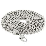Stainless Steel Franco Chain 30 Inches, 6mm Thick #6-30