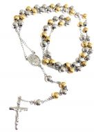 Two Tone Stainless Steel Rosary Chain 30 Inches 8mm #SSRC-6